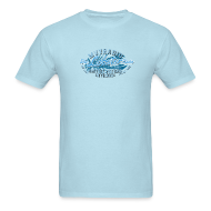 T-Shirts ~ Men's T-Shirt ~ Blue Lobster Radio on Light Blue