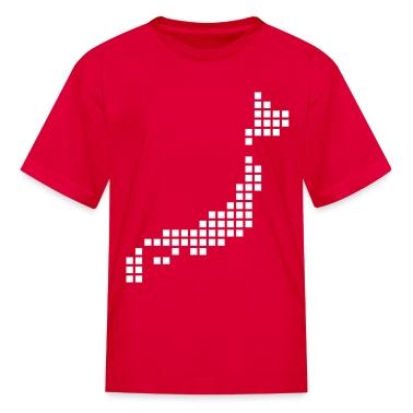 Red Japan Kids' Shirts