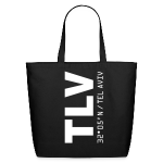 Tel Aviv airport code Israel TLV black tote or beach bag