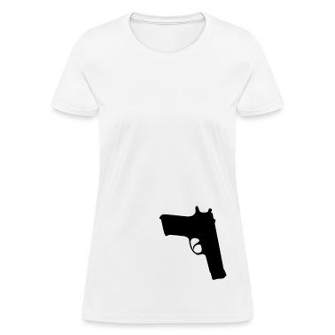 White gun Women's T-Shirts