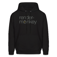 Hoodies ~ Men's Hooded Sweatshirt ~ Rendermonkey - Black Hoodie