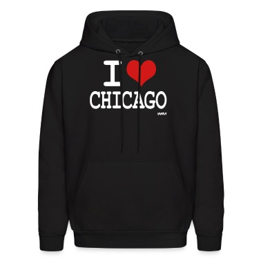 Black i love chicago by wam Hoodies