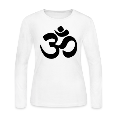 White Om Long Sleeve Shirts