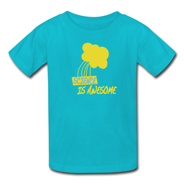 Turquoise Science is Awesome Kids' Shirts