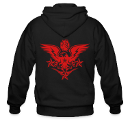 Zip Hoodies & Jackets ~ Men's Zipper Hoodie ~ New Mens Designer Tattoo Hoodies For Fall
