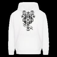 Hoodies ~ Men's Hooded Sweatshirt ~ New Cross and Roses Vintage Designer Hoodie