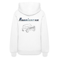 Hoodies ~ Women's Hooded Sweatshirt ~ Hooniverse Hoodie with Round Logo... for the ladies