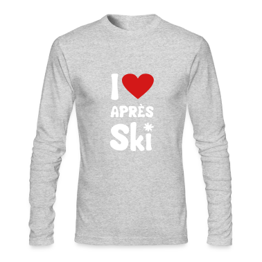 "Kelly green T shirt ""I heart aprés-ski"" Long Sleeve Shirts"