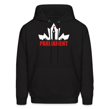 Black Canadian Parliament Hoodies