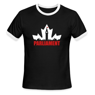 Black/white Canadian Parliament T-Shirts