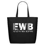 New Bedford airport code EWB black tote / beach bag