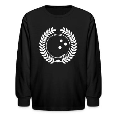 Black Vintage bowling bowler Kids' Shirts