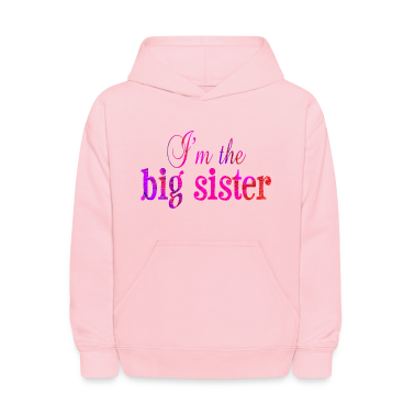 Pink I'm the BIG SISTER Sweatshirts