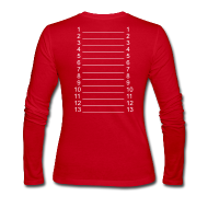 Long Sleeve Shirts ~ Women's Long Sleeve Jersey T-Shirt ~ Red & White Length Shirt SL +