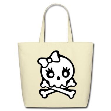 Creme skull Bags