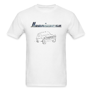 T-Shirts ~ Men's Standard Weight T-Shirt ~ Hooniverse T-Shirt with Emblem and Car