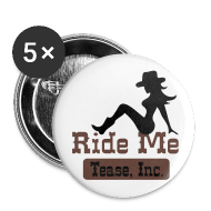 Buttons ~ Large Buttons ~ Ride Me - Cowgirl: Buttons (5 Pack)