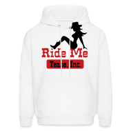 Hoodies ~ Men's Hooded Sweatshirt ~ Ride Me - Cowgirl: Men's Pullover