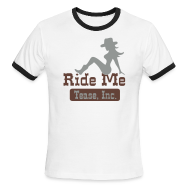 T-Shirts ~ Men's Ringer T-Shirt by American Apparel ~ Ride Me - Cowgirl: Men's Ringer Tee