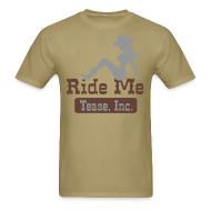 T-Shirts ~ Men's Standard Weight T-Shirt ~ Ride Me - Cowgirl: Men's Bargain T Shirt