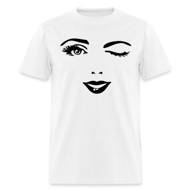 White female_face_1c T-Shirts