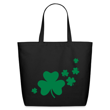 Black Shamrocks Bags