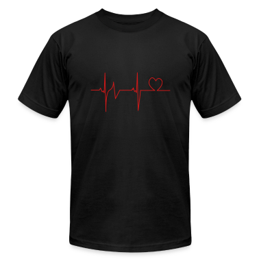 Black Heartbeat T-Shirts