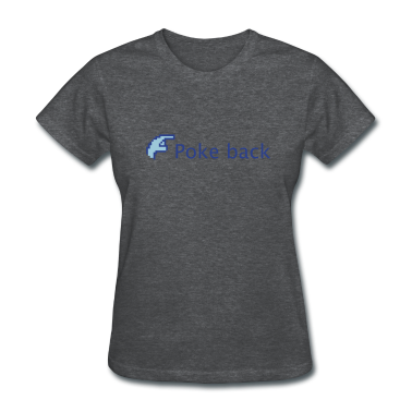 Light blue Facebook Poke back Women's T-Shirts