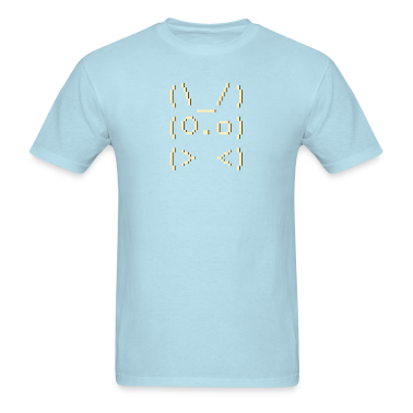 Sky blue ascii art: bunny T-Shirts
