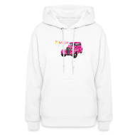 Hoodies ~ Women's Hooded Sweatshirt ~ Pink car t-shirt