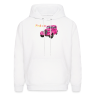 Hoodies ~ Men's Hooded Sweatshirt ~ Pink car hoodie