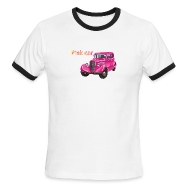 T-Shirts ~ Men's Ringer T-Shirt by American Apparel ~ Pink car t-shirt