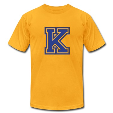 Gold Letter K T-Shirts
