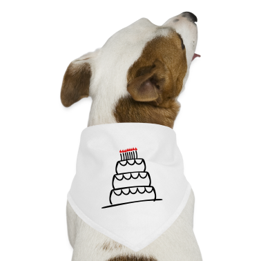 White Funky 3-Layer Birthday Cake With Candles And Flames Dog T-Shirts
