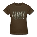 Brown Army Girlfriend- Dog Tags Women's T-Shirts
