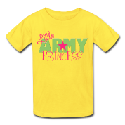 Classic pink Little Army Princess Kids' Shirts