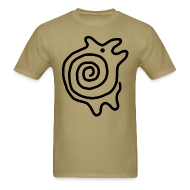 T-Shirts ~ Men's Standard Weight T-Shirt ~ Pictofiti Spiral Animal