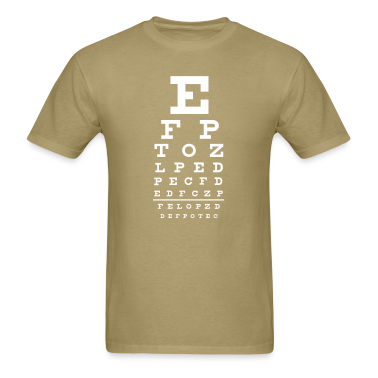 Khaki eye chart T-Shirts