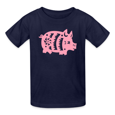 Navy pig Kids' Shirts