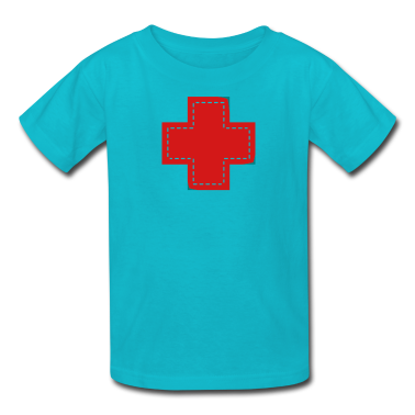 Turquoise cross patch Kids' Shirts