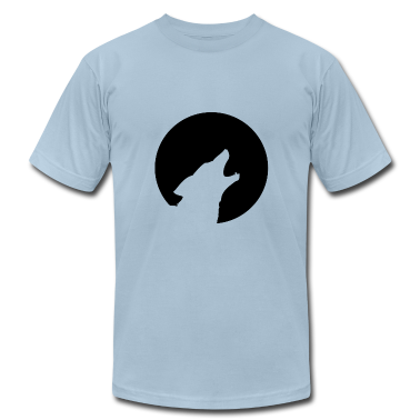 Light blue lone wolf T-Shirts