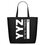 Toronto airport code Canada  YYZ black tote beach bag