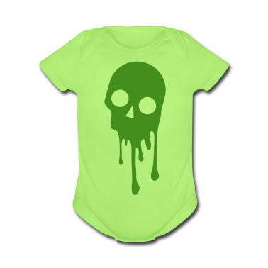 Mint green SKULL BLEEDING Baby Body