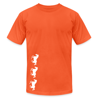 Orange Three Horses Galloping T-Shirts