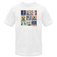 T-Shirts ~ Men's T-Shirt by American Apparel ~ Am App white Men's Pekar Tee