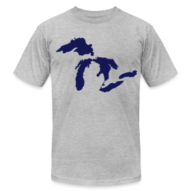 Just Michigan Men's American Apparel Tee (not glow in dark) ~ 316