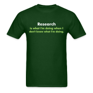 T-Shirts ~ Men's Standard Weight T-Shirt ~ YellowIbis.com 'One Liners' Men's / Unisex Standard T: Research (Khaki)