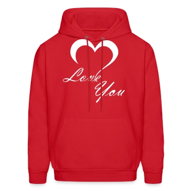Red Love You Hoodies