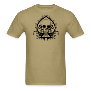 Men's Skull Spade Standard Weight T-Shirt