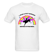 T-Shirts ~ Men's Standard Weight T-Shirt ~ I Was a Gay Cowboy Before It Was Cool T-Shirt (Men's Standard Tee)
